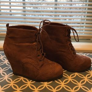 Wedge boots.